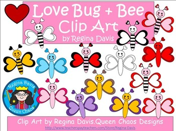 A+ Clip Art: Love Bugs and Bees