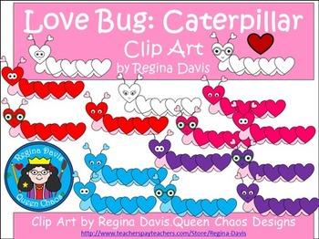 A+ Clip Art: Love Bugs...Caterpillar