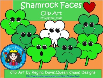 A+ Clip Art: Shamrock Faces