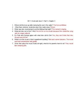 A Clockwork Orange- Set of 5 Quizzes