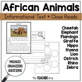 Close Read - African Animals (Savanna)