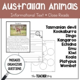 Close Read- Australian Animals