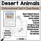Close Read- Desert Animals