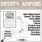 Close Read- Desert Animals