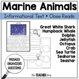 Close Read - Marine Animals