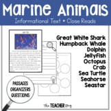 Close Read - Marine Animals