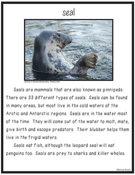 Close Read- Polar Animals
