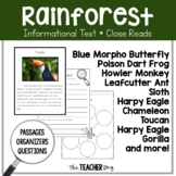 Close Read - Rainforest Animals
