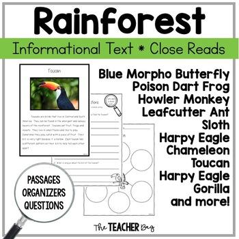 Close Read - Rainforest Animals