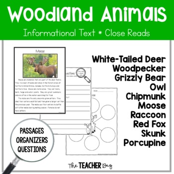 Close Read - Woodland (Forest) Animals