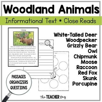 Close Read - Woodland (Forest) Animals