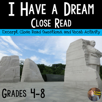 "A Close Read of the ""I Have a Dream"" Speech by Dr. Martin"