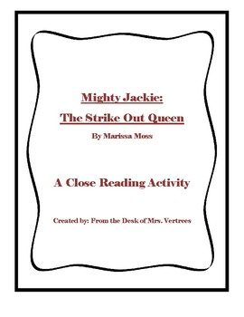 A Close Reading Activity with Mighty Jackie: The Strike-Out Queen
