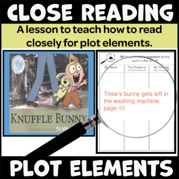 A Close Reading Lesson to Teach Plot (Uses the Book Knuffle Bunny)