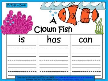 A+  Clown Fish ... Three Graphic Organizers
