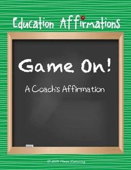 A Coach's Affirmation (Professional Development)