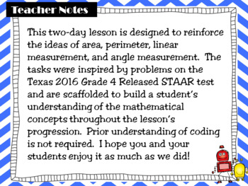 A Coding and Content Math Lab: Area and Perimeter