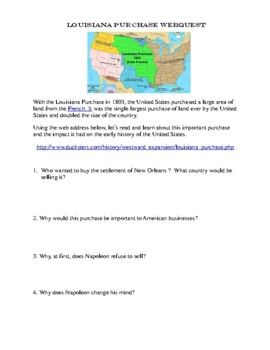Lewis and Clark on The trail with Sacagawea-A Collection of  3 WebQuests