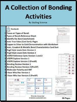 A Collection of Chemical Bonding Activities