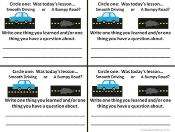 A Collection of Exit Slips for Any Lesson