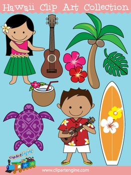 Hawaii Clip Art Collection
