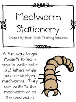 A Collection of Mealworm Stationery ~ Different Life Cycle Stages