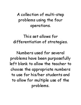 A Collection of Multi-Step Problems