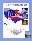 Five Famous Landmarks in the United States-A Collection of Webquests