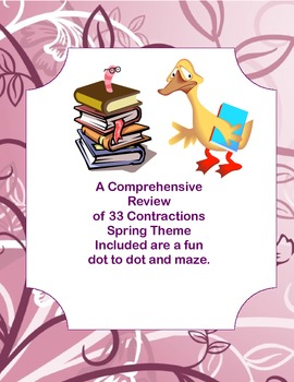 A Collection of Worksheets-A Comprehensive review of Contractions Spring Theme