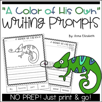 A Color of His Own Writing Activities