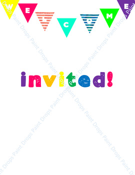 A Colorful & Editable BACK TO SCHOOL INVITATION LETTER From the Teacher