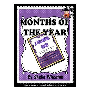A Colorful Year! - A READ TO LEARN Book About the Months of the Year