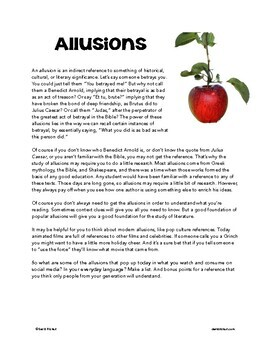 Allusions: A Comic Lesson With Activities