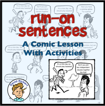 run on sentences a comic lesson with activities by david rickert. Black Bedroom Furniture Sets. Home Design Ideas
