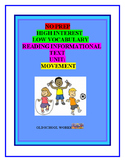 No Prep High Interest, Low Vocabulary Reading Informational Text Unit