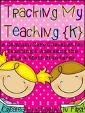 A Common Core Checklist...Tracking Your Teaching! {Kindergarten}