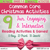 Christmas Activities for Reading Grades 4-8