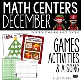 Math Centers - December (1st + 2nd Grade - EDITABLE)