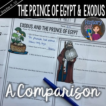 The Prince of Egypt and Book of Exodus