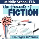 Elements of Fiction Unit Middle School Bundle