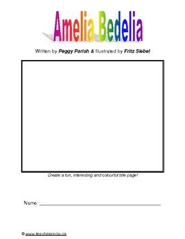 A Complete Novel Study for Amelia Bedelia