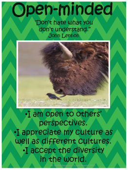 A Complete Set of IB PYP Posters with Famous Quotes Blue Green Theme