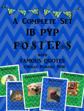 A Complete Set of IB PYP Posters with Famous Quotes Blue G