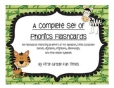 A Complete Set of Phonics Flashcards