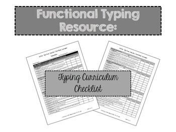 A Complete Typing Instructional Resource for Special Educa