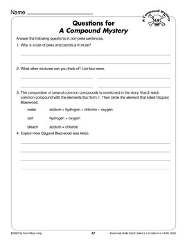A Compound Mystery (Physical Science/Compounds)