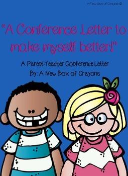 """""""A Conference Letter...""""- Parent-Teacher Conference Studen"""