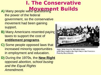 A Conservative Movement Emerges