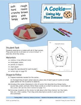 A Cookie: Using My Five Senses
