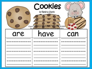 A+ Cookies: Graphic Organizers